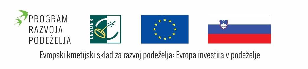 Logotipi Program razvoja podeželja - EU in Slovenija