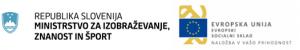 Logotip ministrstvo za izobraževanje in Evropska unija