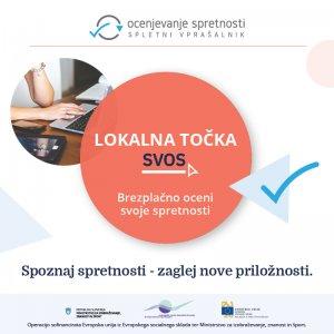 lokalna točka SVOS - Brezplačno oceni svoje spretnosti