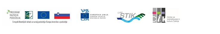 Logotipi Evropski kmetijski skladi za razvoj - Las stik in CIK Trebnje