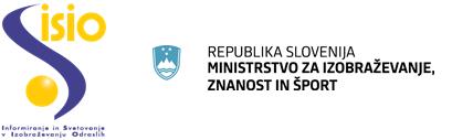 ISIO Logo Ministrstvo za izobraževanje, znanost in šport